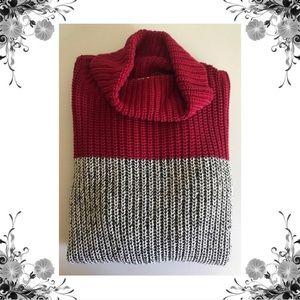 {525 America} 100% Cotton Knit Colorblock Sweater